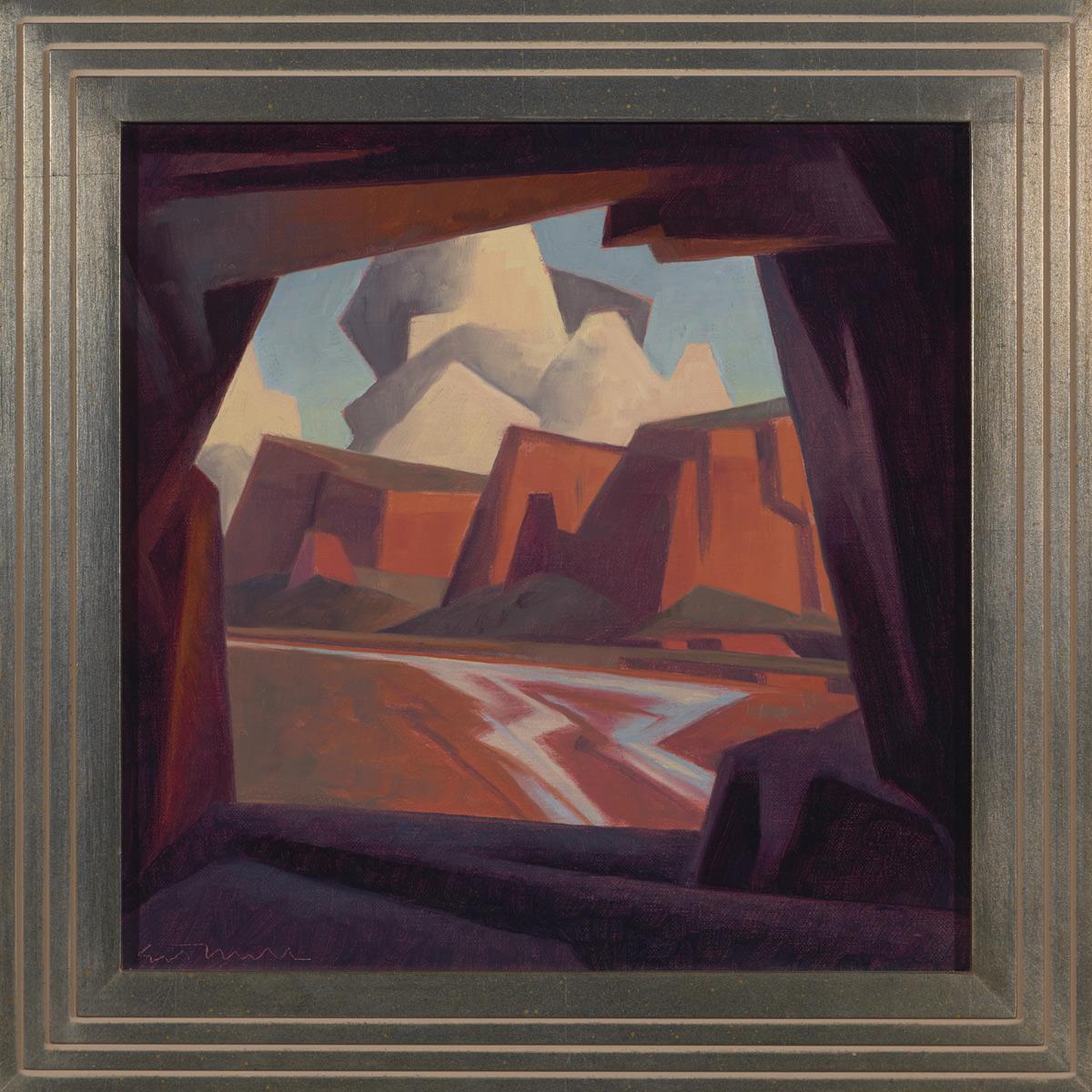 "Ed Mell ""Stone Window"" 12""x12"" Oil"