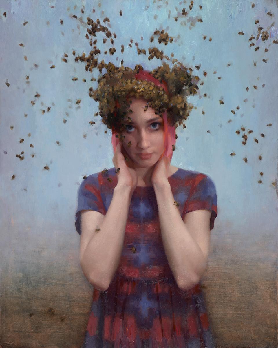 "Joseph Todorovitch ""Pollination"" #savethebees 30""x24"" Oil"