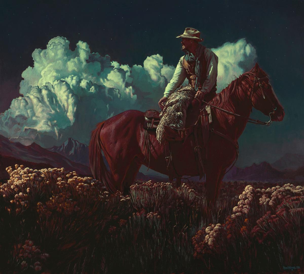 """(SOLD) Mark Maggiori """"The Starlit Hours"""" Oil"""