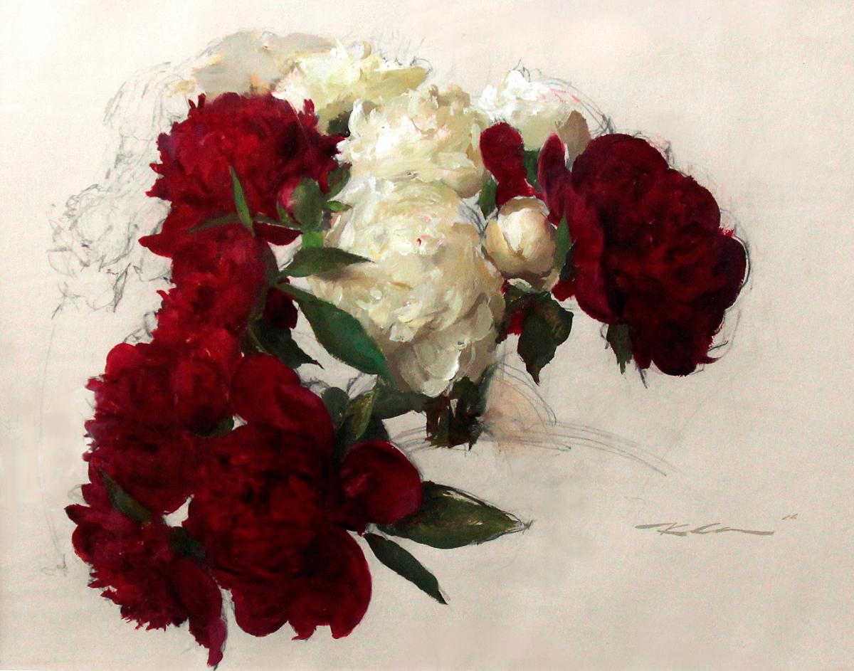 """Michael Klien """"Floral Study"""" 18""""x24"""" Oil"""