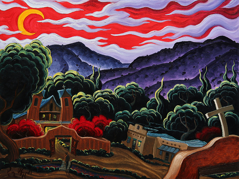 "(SOLD) Kim Wiggins ""One Night At Chimayo"" 12""x16"" Oil"