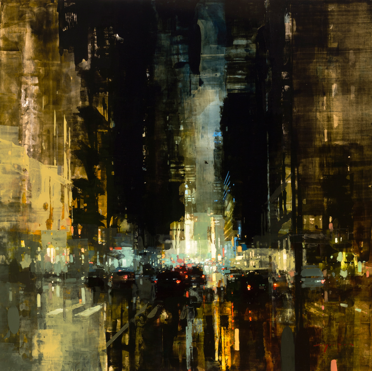 """(SOLD) """"NYC #27"""" 36""""x36"""" Oil"""