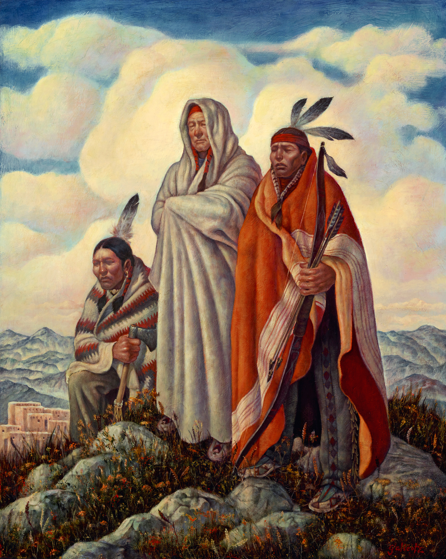 "Danny Galieote ""The Watchers"" 30""x24"" Oil"
