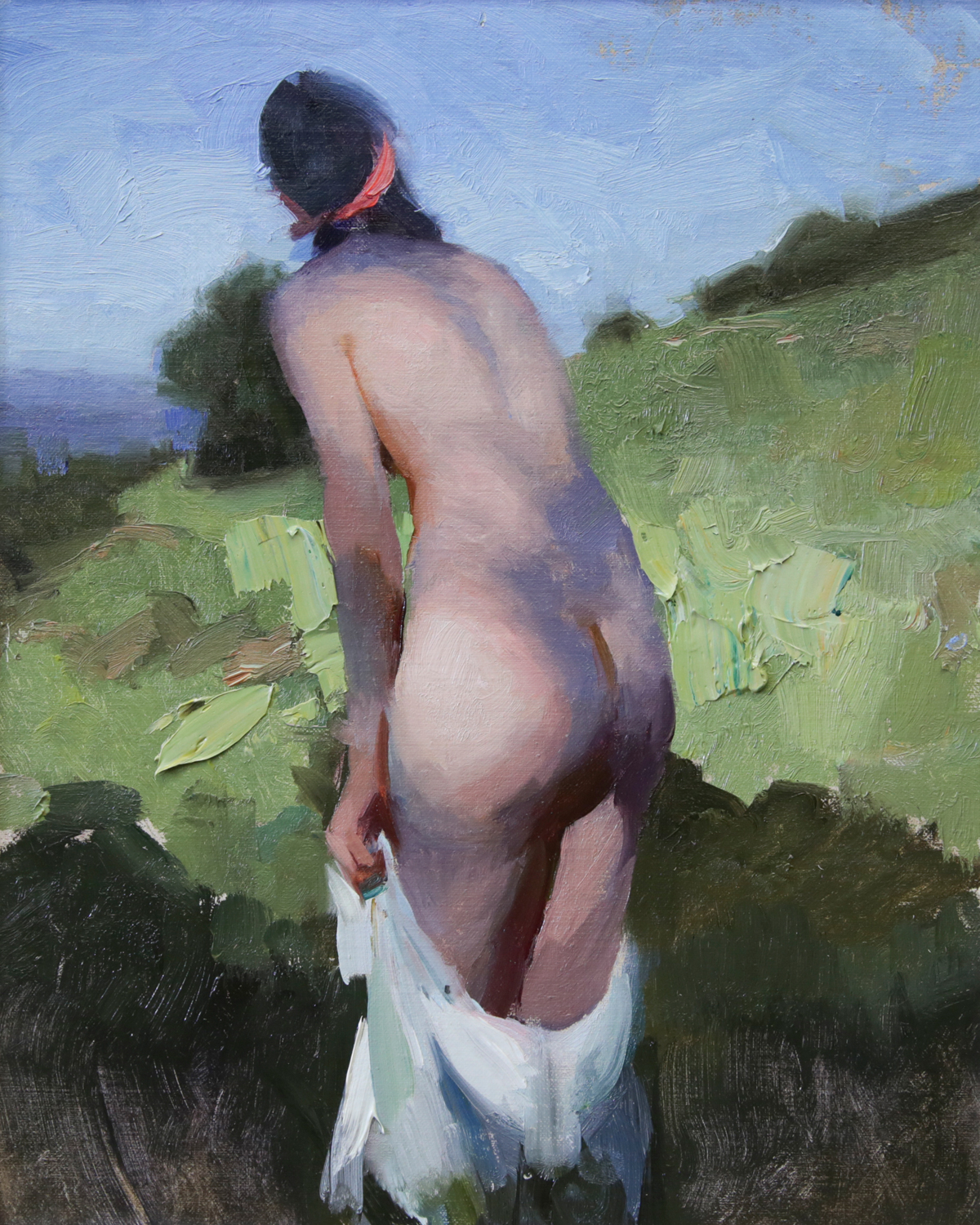 """""""On the Hill"""" 10""""x8"""" Oil"""