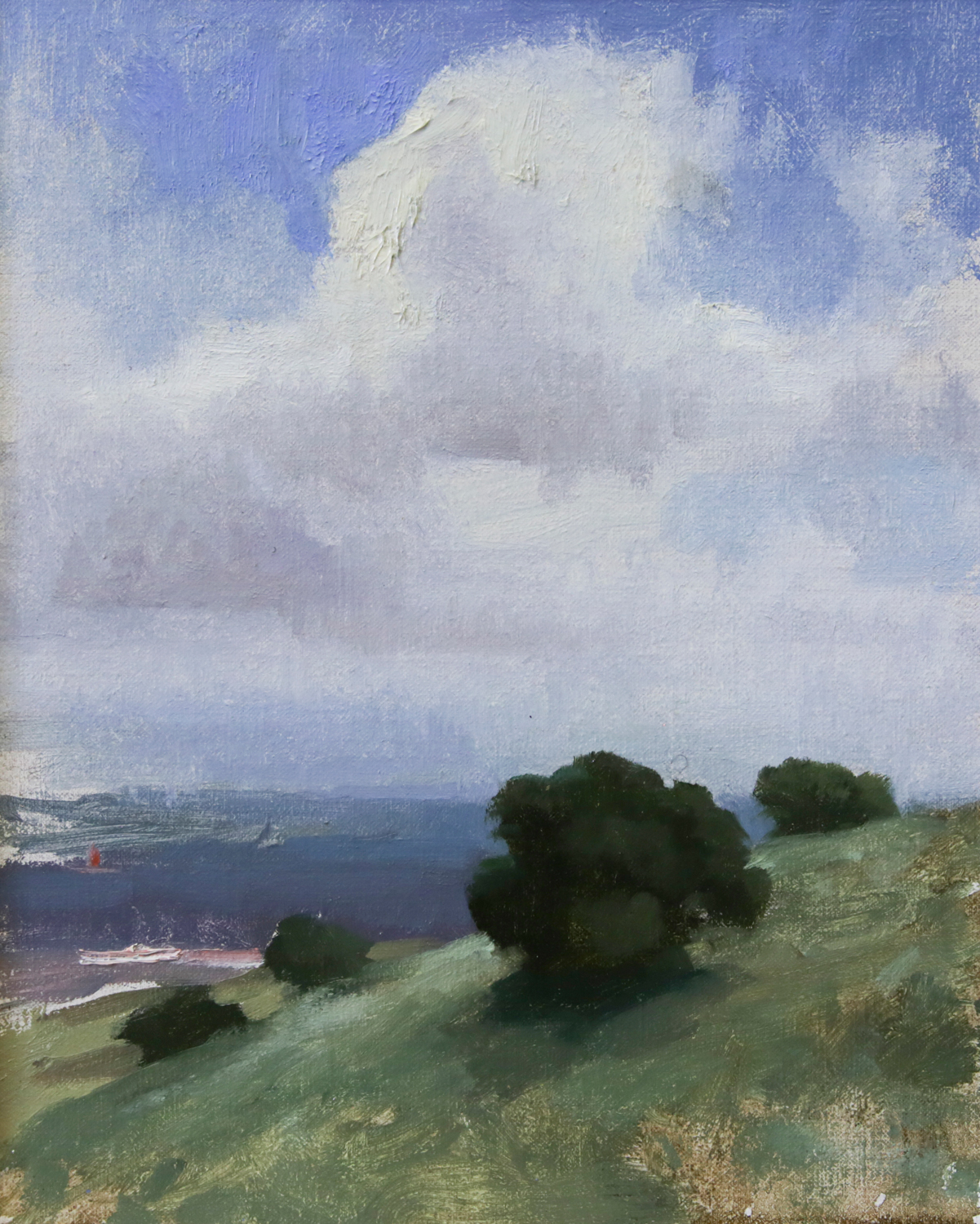 """""""The Hill"""" 10""""x8"""" Oil"""