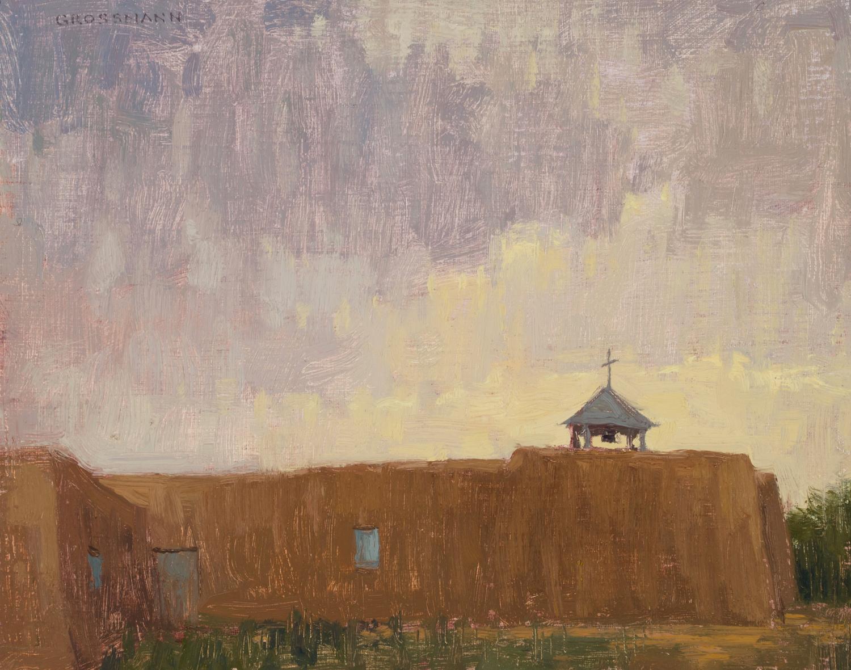 David-Grossmann---Clouded-Sunset,-Taos,-8x10-inches,-Oil-on-Linen-Panel.jpg