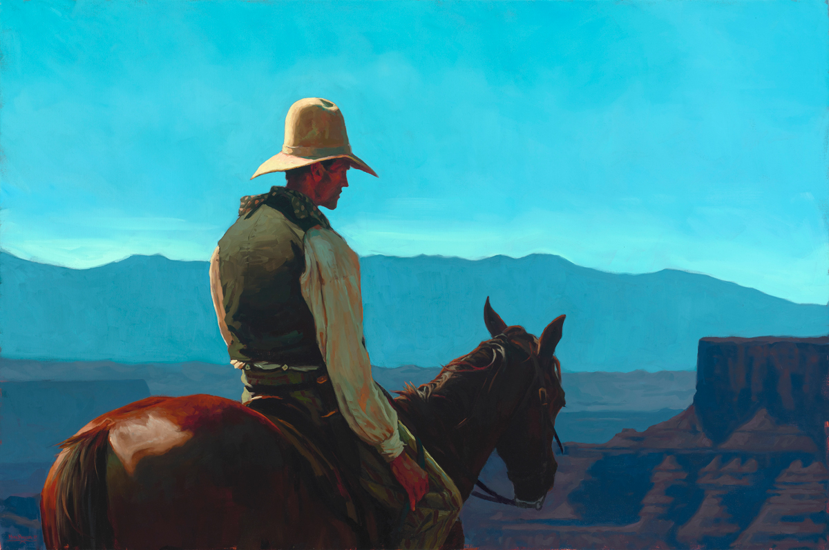"""(SOLD) """"Morning Above the Canyon"""" Oil 40""""x60"""""""