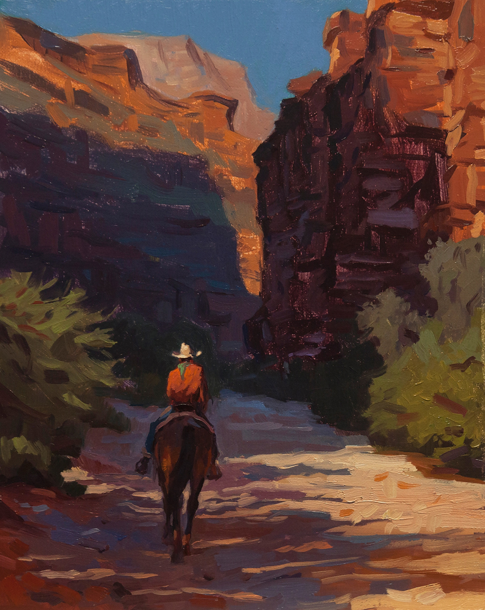 """(SOLD) """"  Through the Canyon Walls"""" Oil 10""""x8"""""""