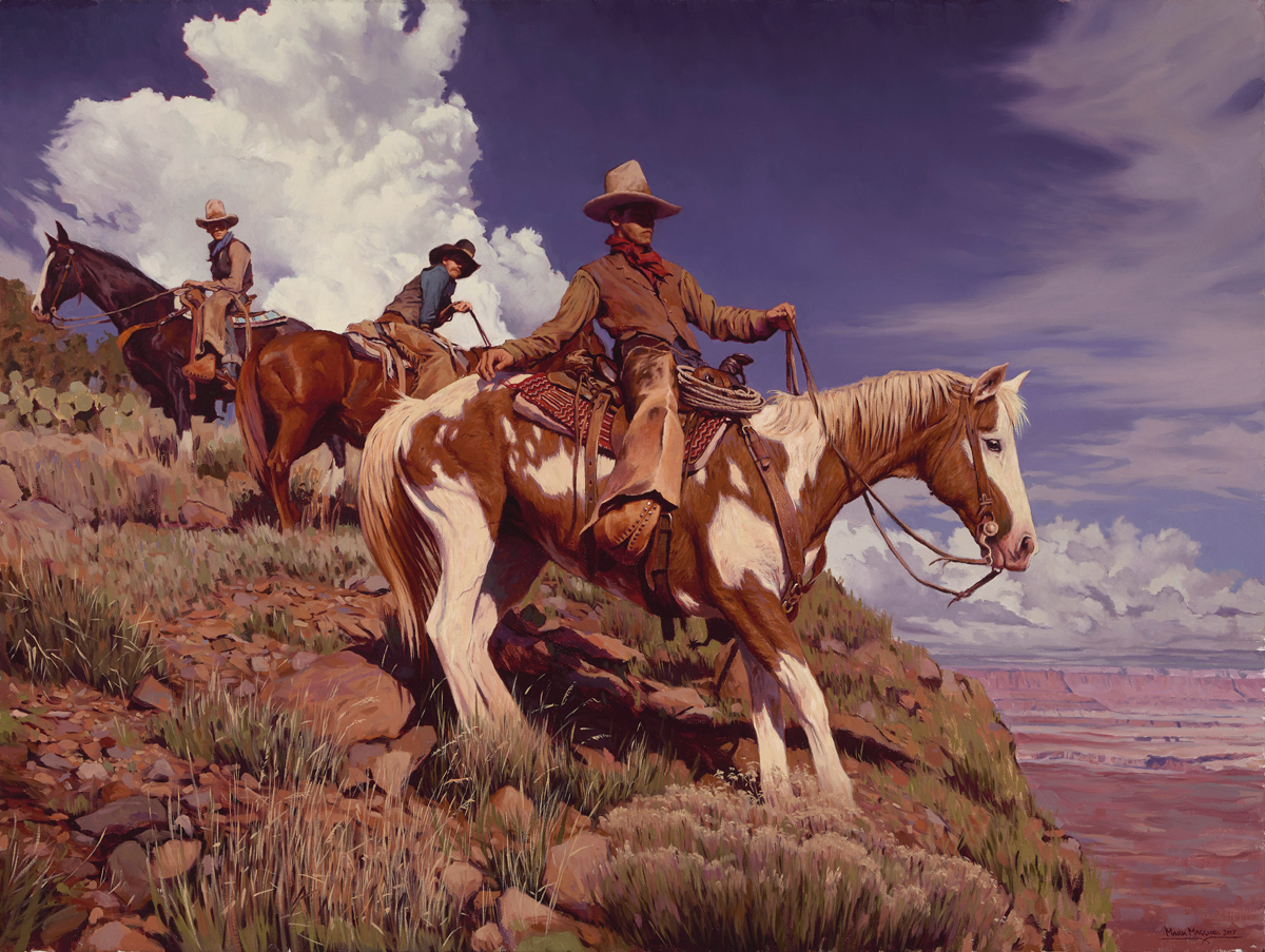 """(SOLD) """"High Noon in Arizona"""" Oil 30""""x40"""""""