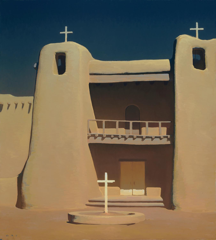 """(SOLD) Brett Allen Johnson  """"Refuge Under An Arid Sun"""" 40""""x36"""" Oil"""