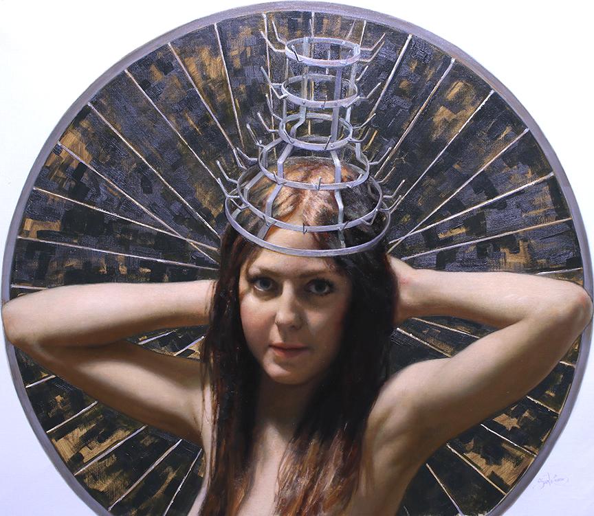 "Cesar Santos ""Drying Crown Jewel"" 28""x32"" Oil"