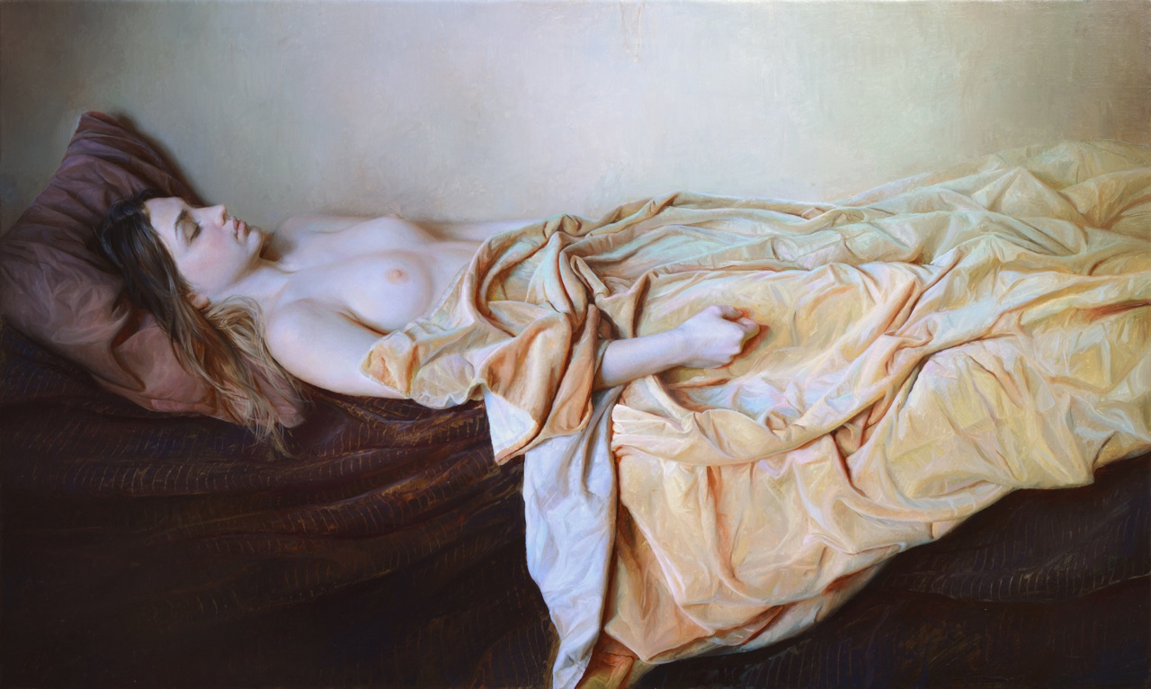 """Serge Marshennikov """"Snow White"""" 24x40"""" Oil"""