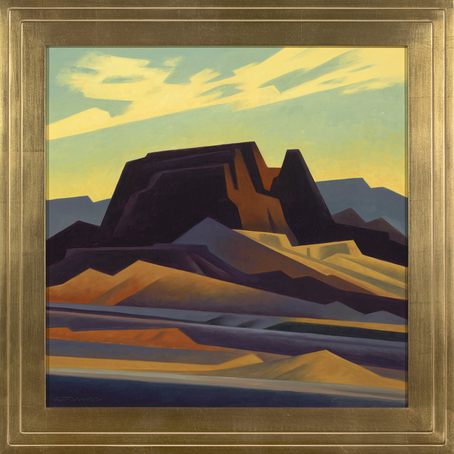 """Ed Mell """"Colored Earth"""" Oil 22"""" x 22"""""""
