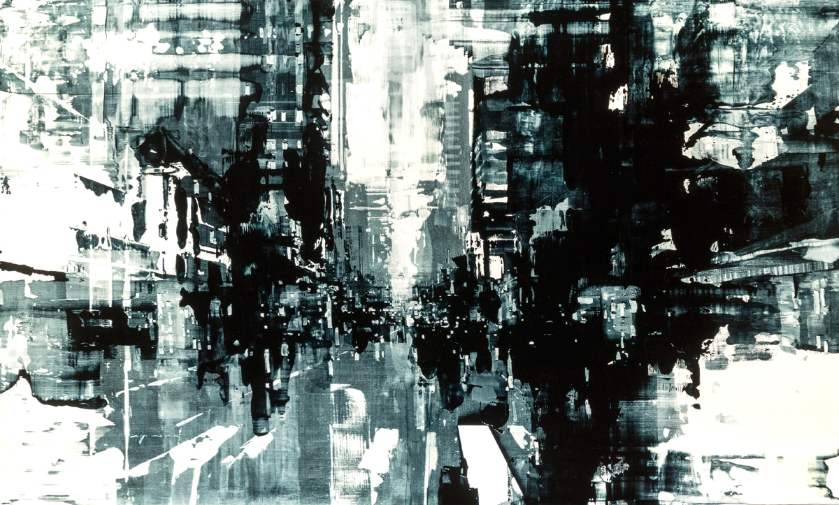 "Jeremy Mann ""Composition 174"" 36""x60"" Oil"