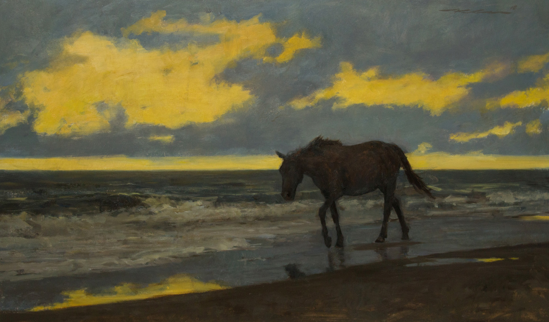 "Michael Klein ""Day's End"" 18""x30"" Oil"