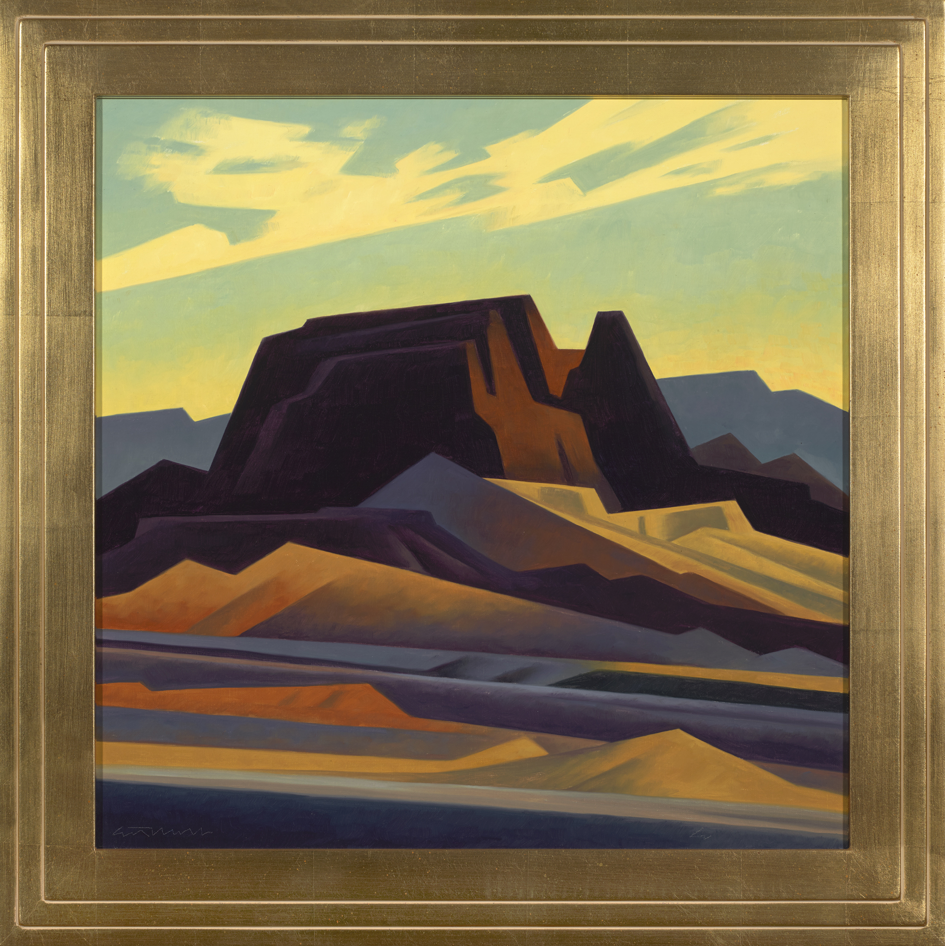 """Ed Mell """"Layered Earth"""" 22""""x22"""" Oil"""