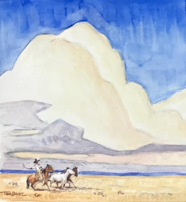 """Teal-Blake---10""""x10""""-$1750-watercolor-""""The-Remnants""""-.jpg"""