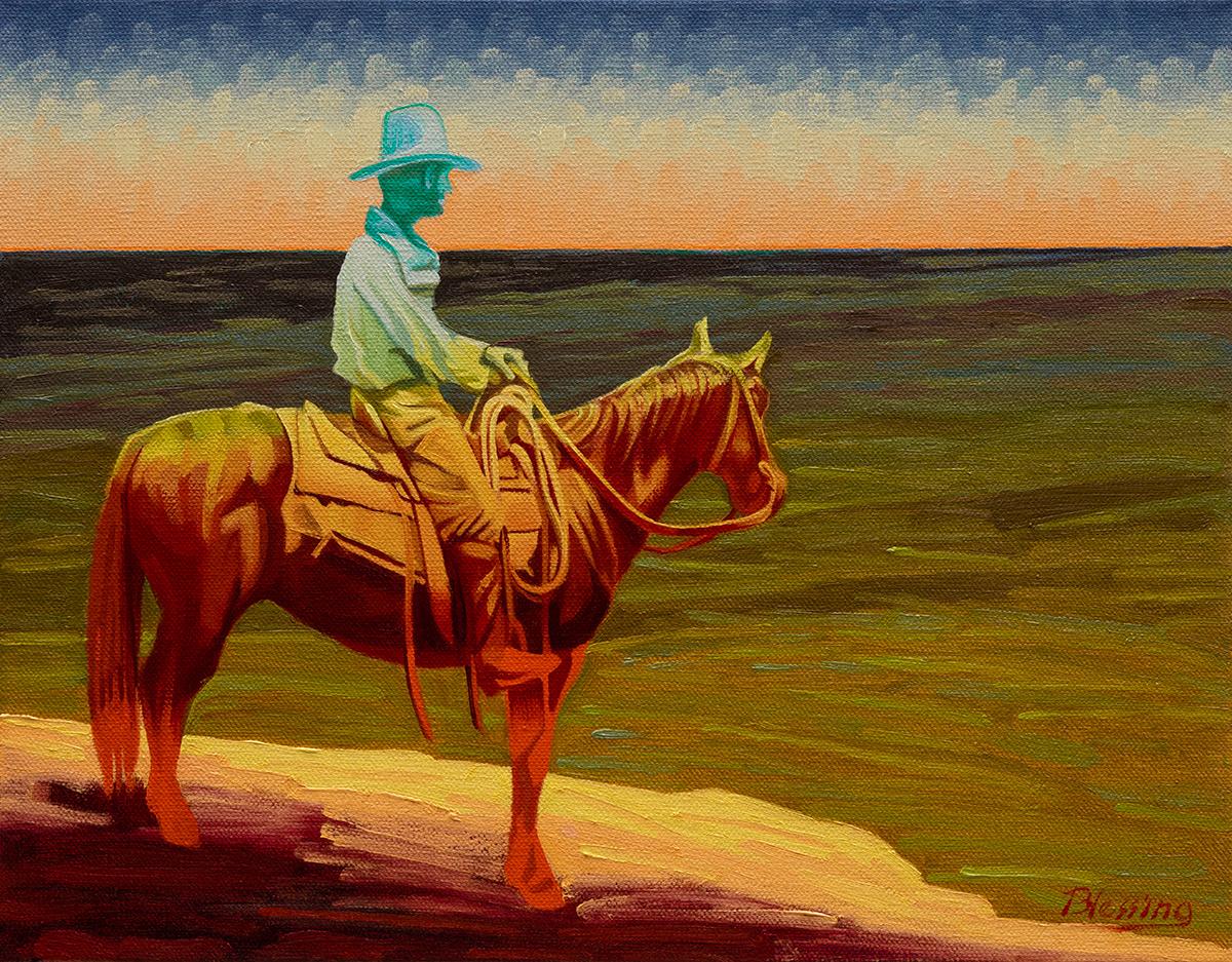 "Michael Blessing ""Event Horizon"" 11""x14"" Oil"