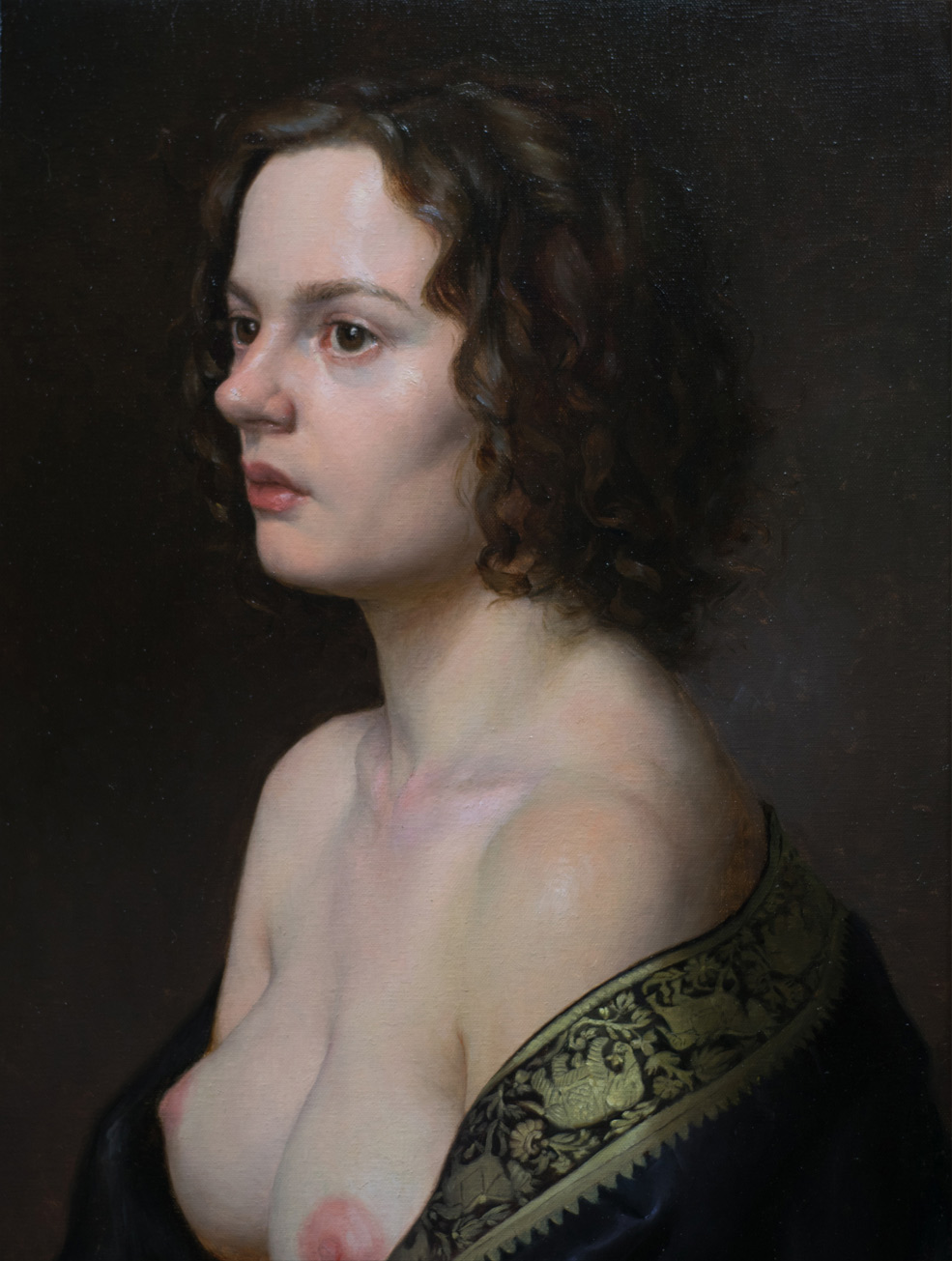 "Kathryn Engberg ""Golden Thread"" 22""x16"" Oil"