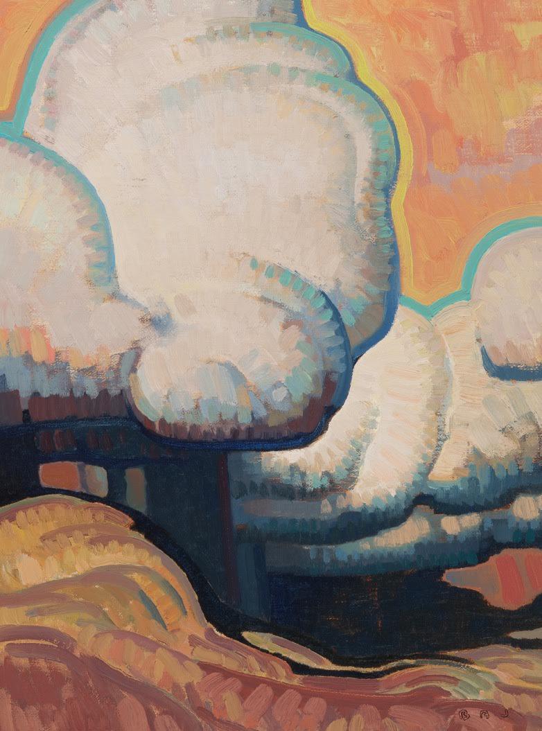 """(SOLD) Brett Allen Johnson """"Autumn Rain"""" 16""""x12"""" Oil"""