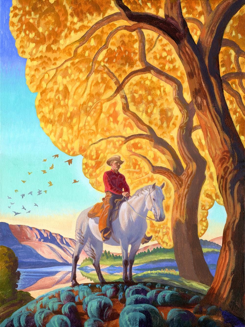 "(SOLD) Bryan Haynes ""Down by the Rio Grande"" 16""x12"" Oil"