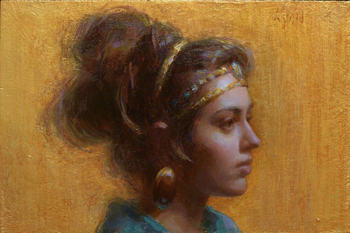 """(SOLD) Susan Lyon """"Amelia"""" 6""""x9"""" Oil"""