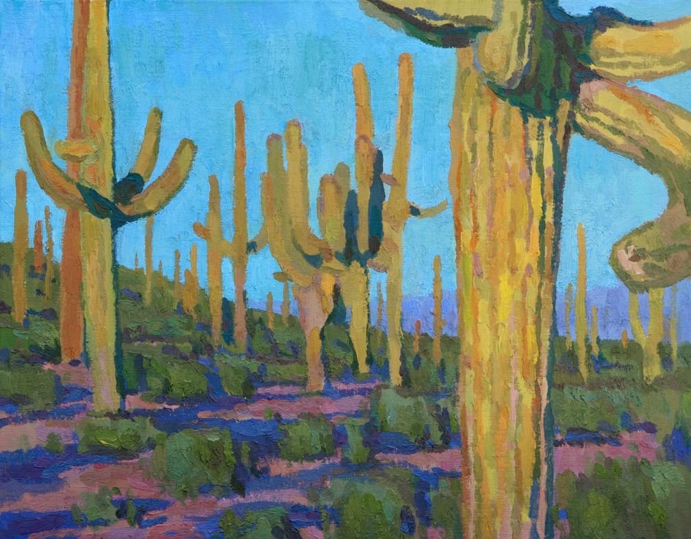 """(SOLD) Eric Merrell """"The Ground Where it Grows"""" 11""""x14"""" Oil"""