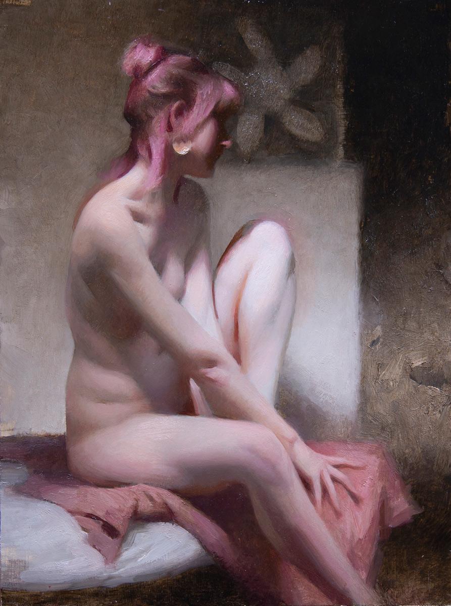 "(SOLD) Joseph Todorovitch ""The Bather"" 12""x9"" Oil"