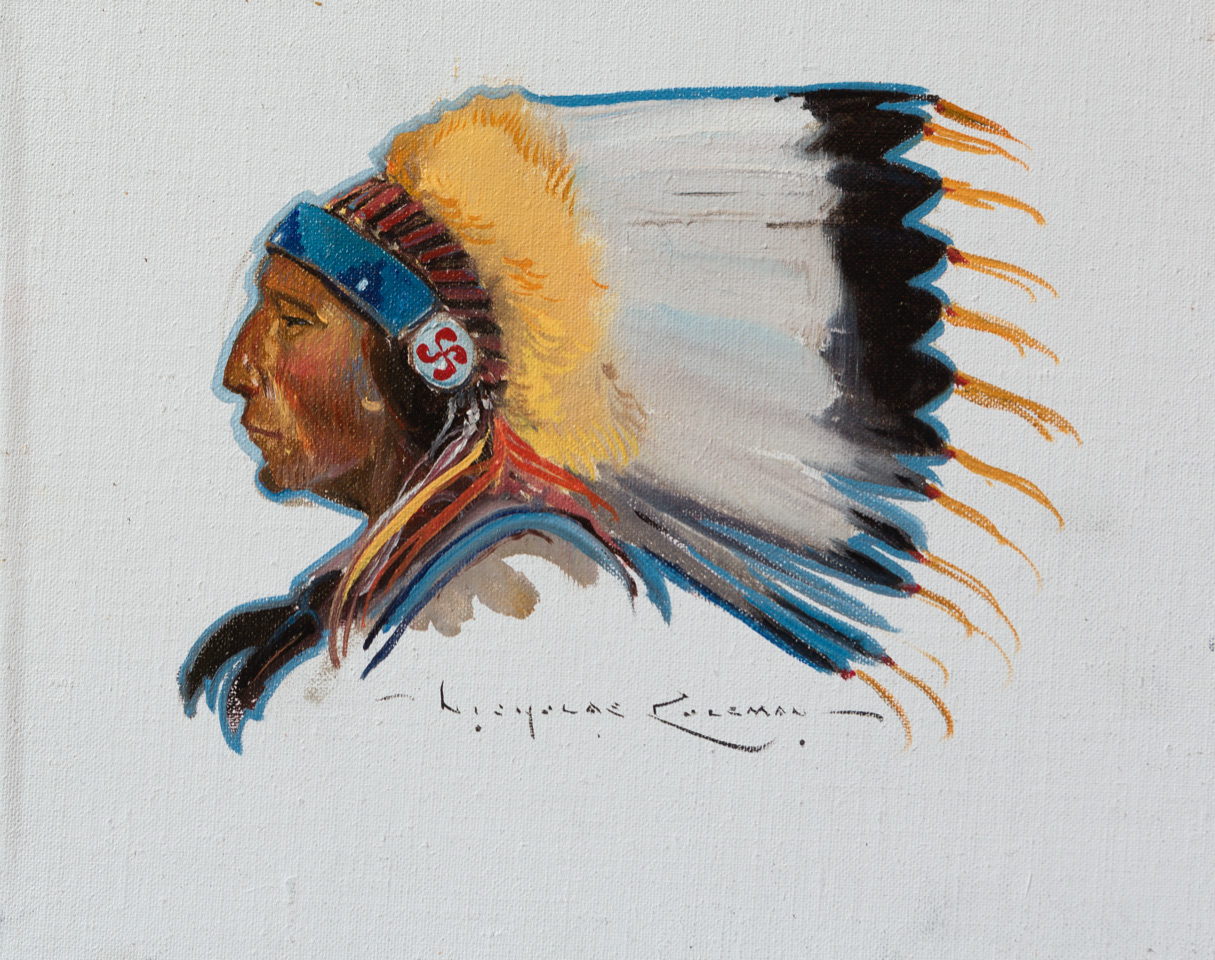 "(SOLD) Nicholas Coleman ""Crowfoot"" 8""x10"" Oil"