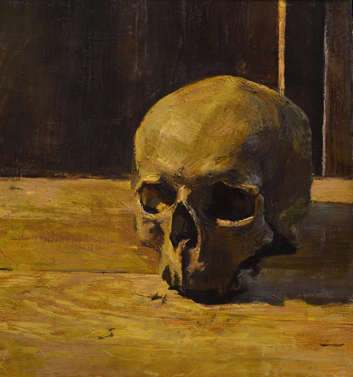"Evan Kitson ""Skull"" 12.25""x11"" Oil"
