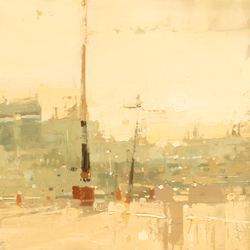 """Cityscape Composed Form Study #39"" 6""x6"" Oil"
