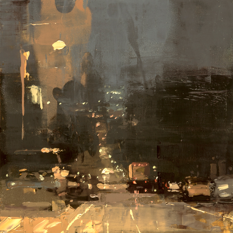 "(SOLD) ""Cityscape Composed Form Study #38"" 6""x6"" Oil"