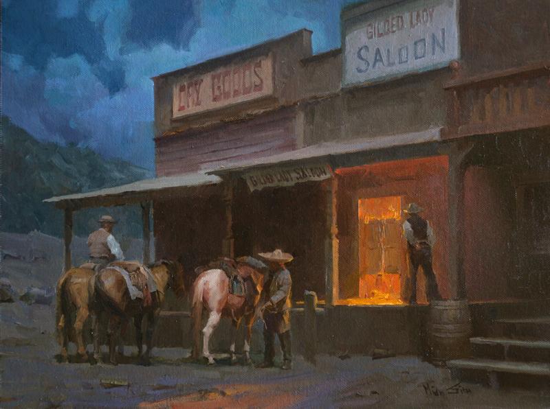 "Mian Situ ""The Saloon"" 12""x16"" Oil"