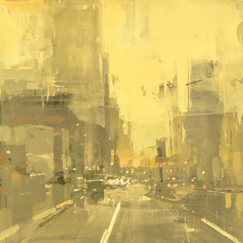 """Cityscape Composed Form Study #43"" 6""x6"" Oil"