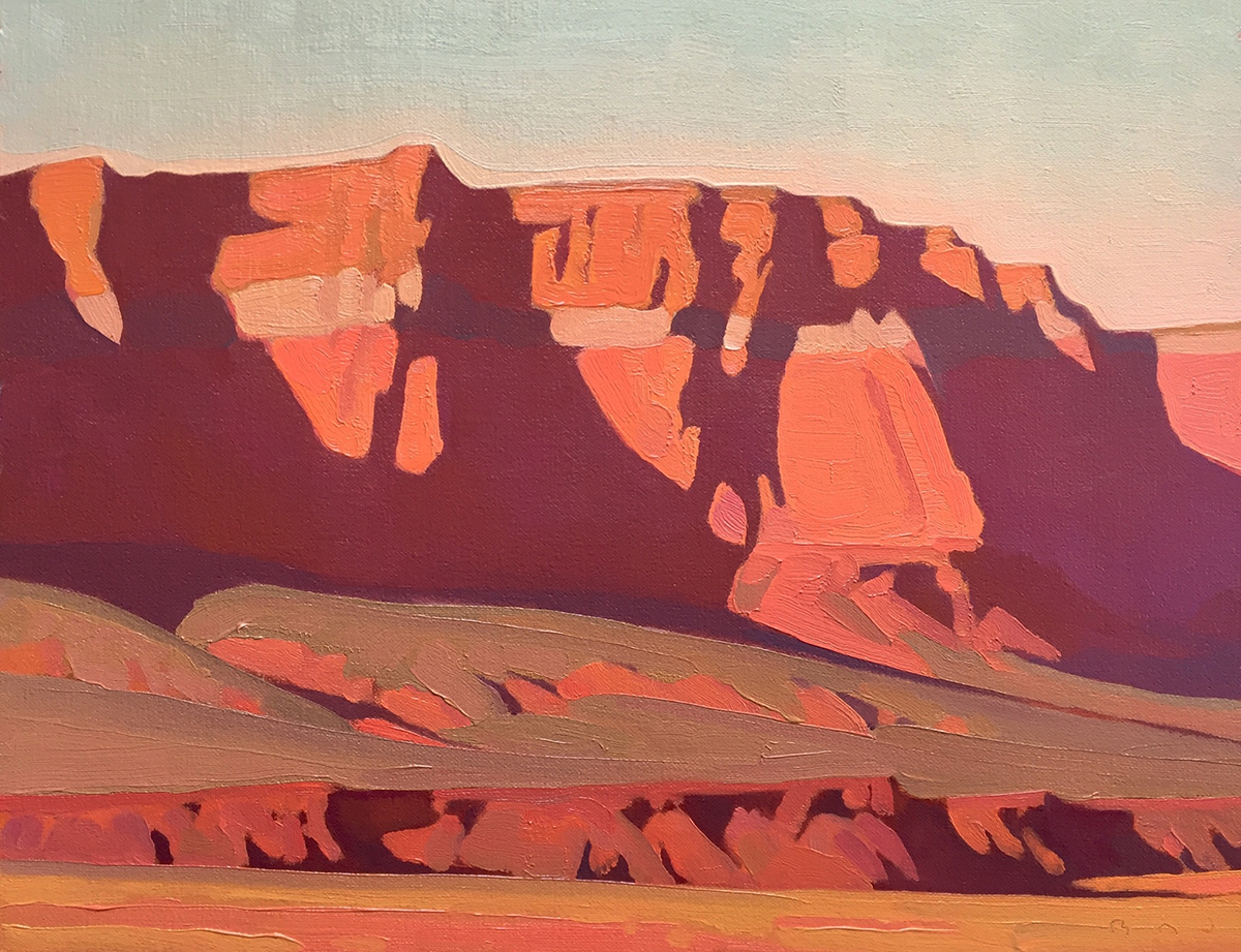 """(SOLD) """"Late Afternoon, Vermillion Cliffs"""" 11""""x14"""" Oil"""