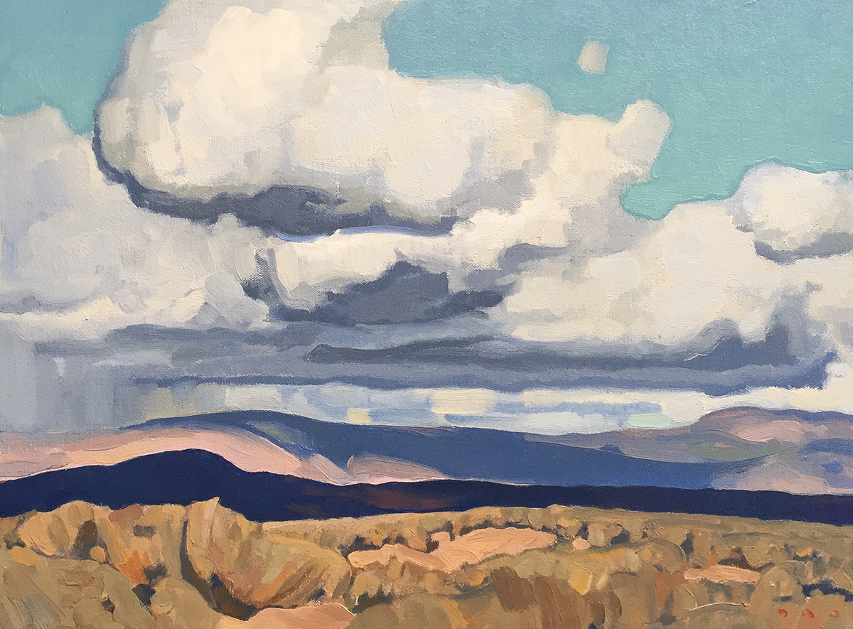 """(SOLD) """"October, Wasatch County"""" 12""""x16"""" Oil"""