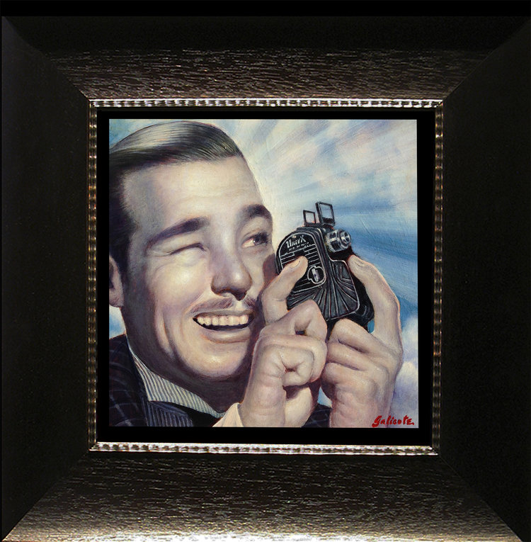"""(SOLD) """"The Movie Maker"""" 6″x6″ Oil"""