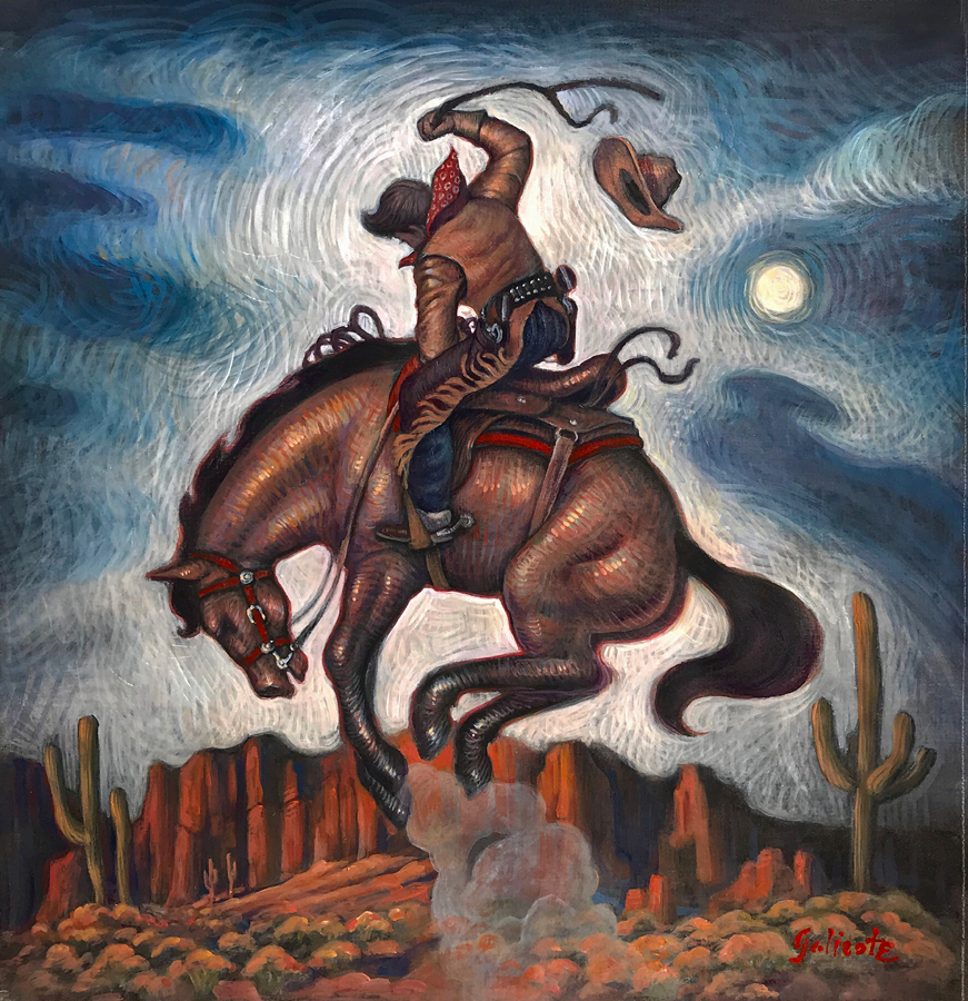"(SOLD) Danny Galieote ""Bronc Moon Study"""
