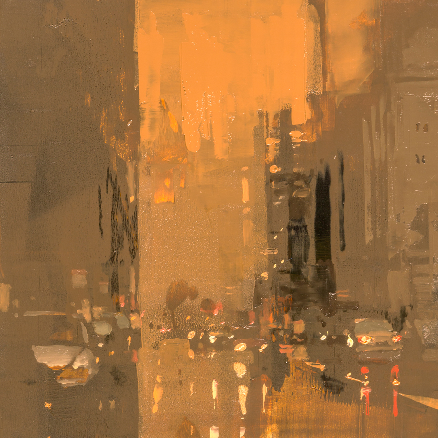 "(SOLD) Jeremy Mann Cityscape ""Composed Form Study #46"""