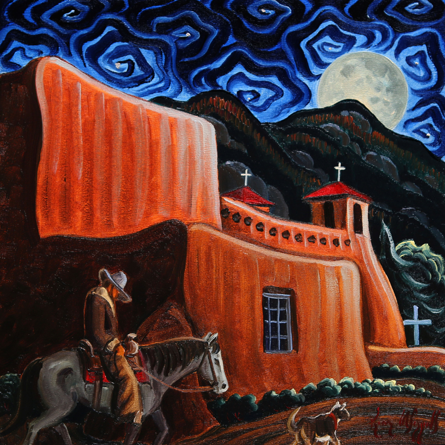"Kim Wiggins ""A Quiet Night at Ranchos de Taos"""