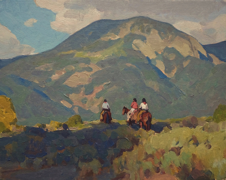 "(SOLD) ""Taos Riders"" 8""x10"" Oil"