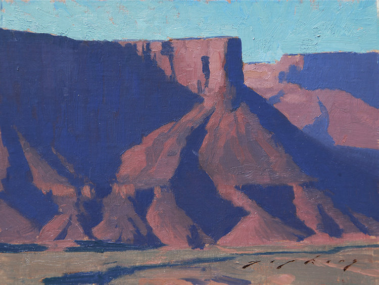 "(SOLD) ""Castle Valley Shadows"" 6″x8″ Oil"