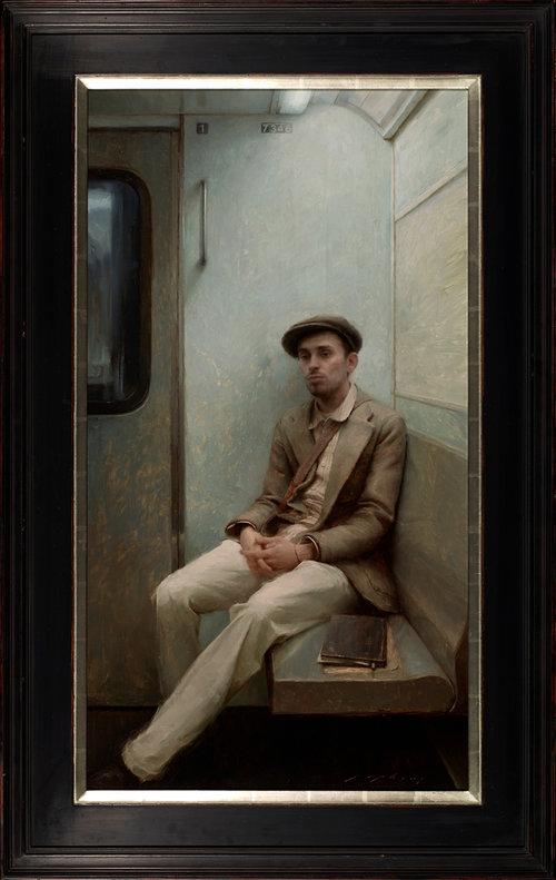 "(SOLD) ""Portrait of an Artist"" Oil 40""x22"""
