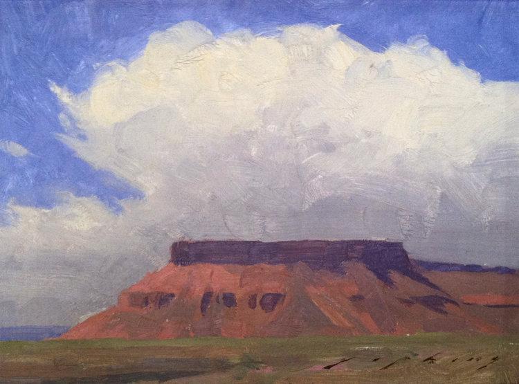 "(SOLD) ""Mesa Cloud"" 6""x8"" Oil"
