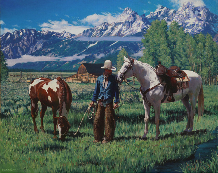 "(SOLD) ""Pure Morning in Wyoming"" 24″×30″ Oil"