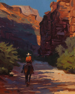 "(SOLD) ""Through the Canyon Walls"" 10""x8"" Oil"