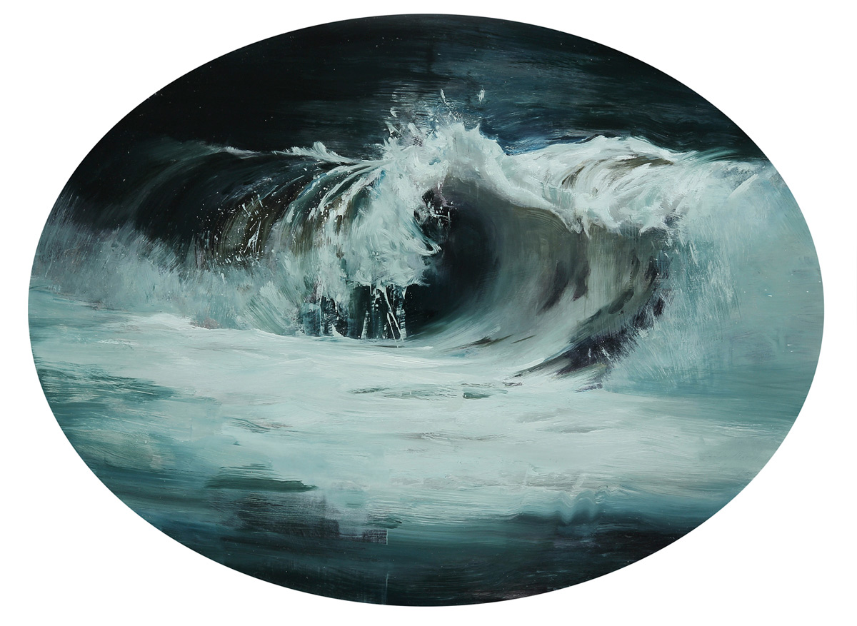 """(SOLD) """"Wave No. 22″ 18″x24"""" Oil"""