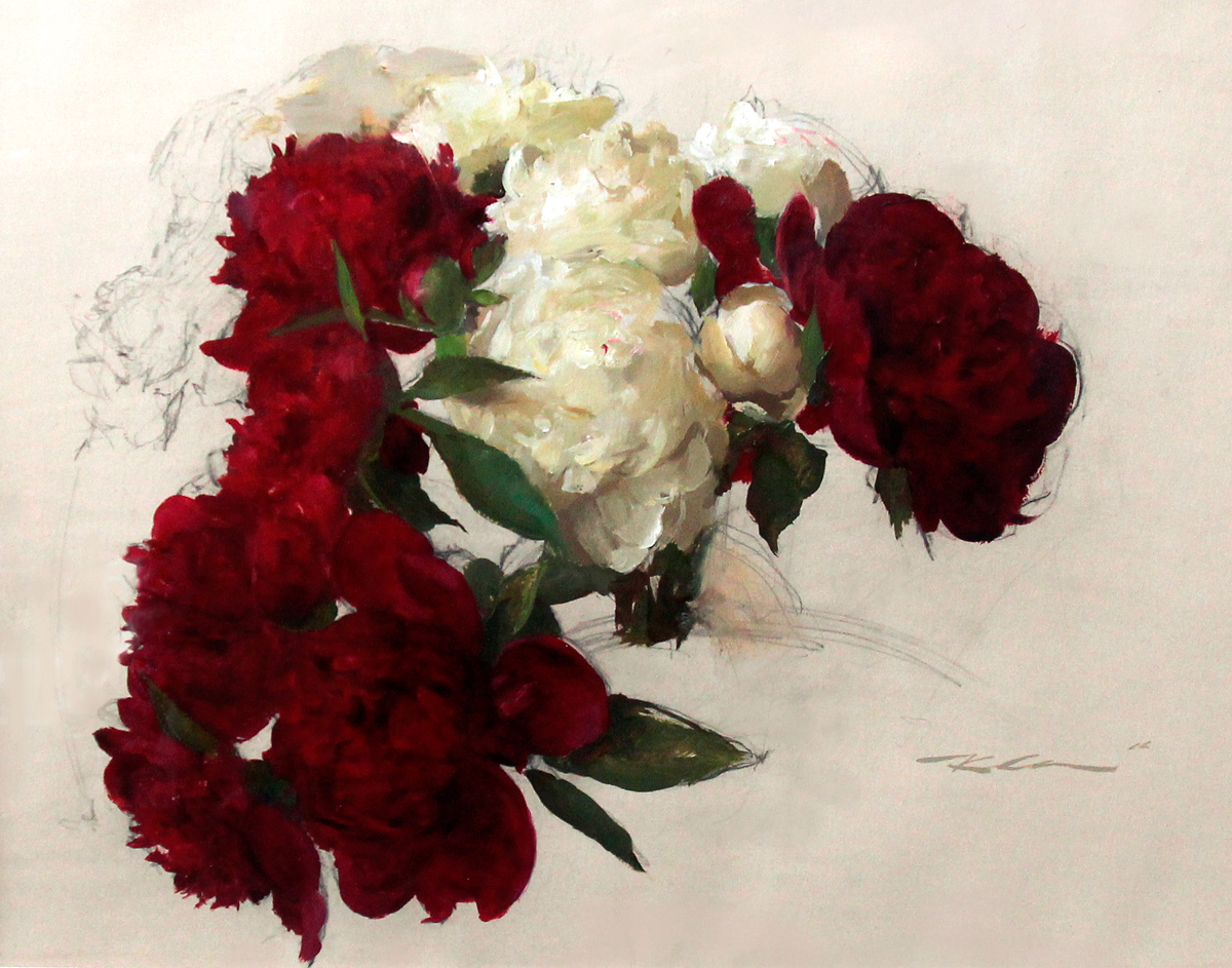 """(SOLD) """"Floral Study"""" 18""""x24"""" Oil"""