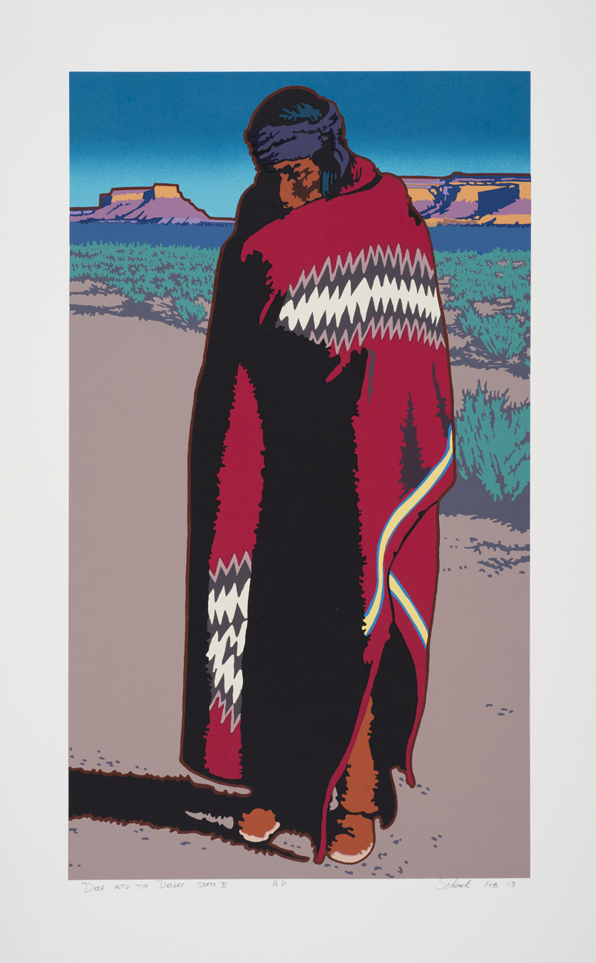 """Deep Into the Desert State II"" 33""×19"" Serigraph"