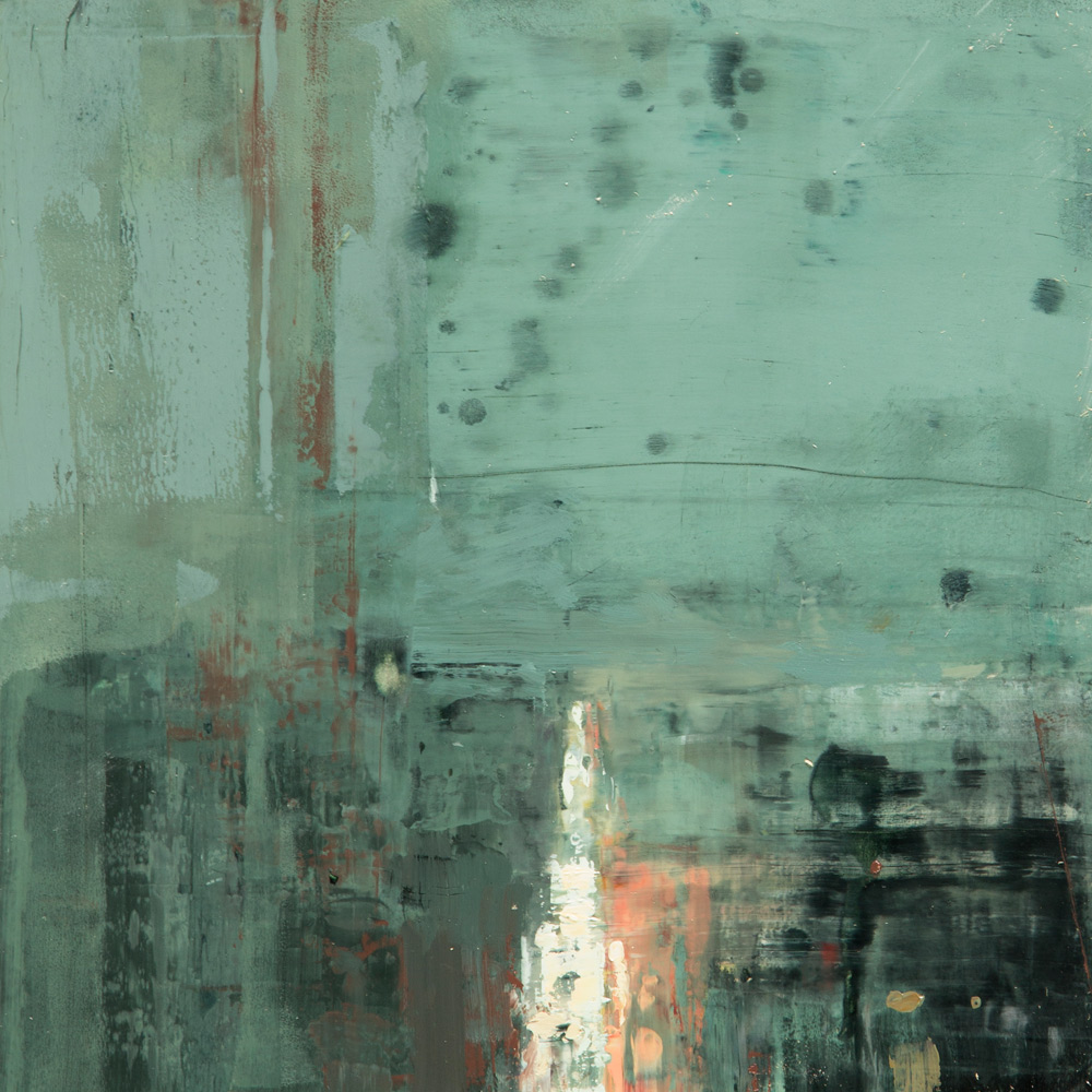 """(SOLD) """"Cityscape Composed Form Study #2″ 6""""x6"""" Oil"""